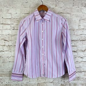 Women's Ted Baker London Button Down Shirt Sz 3 M